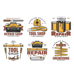house repair and construction tools vector image