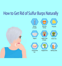 How to get rid sulfur burps naturally vector