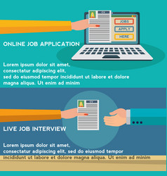 Human resources online job application job vector