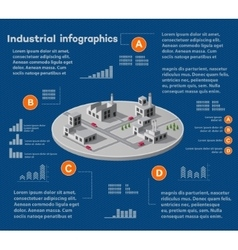 Industrial infographics city vector image