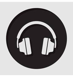 Information icon - headphones vector
