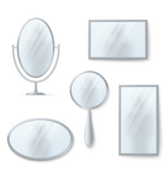 isolated mirrors with reflexion set vector image