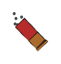 Isolated shotgun bullet vector