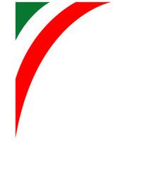 italian flag corner frame vector image