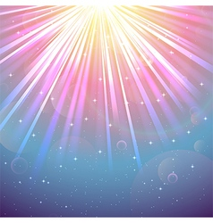 Lights of blue and purple background vector image