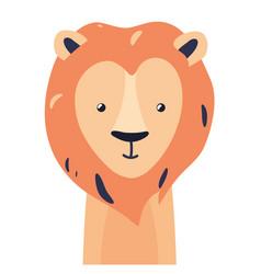 Lion cute animal baface vector