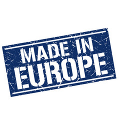 made in europe stamp vector image