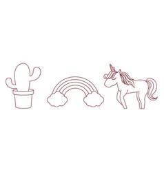 Magical unicorn design vector