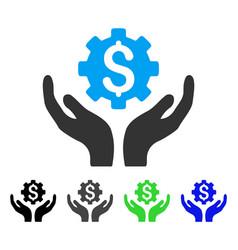 Maintenance price flat icon vector