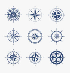 marine compass navigation equipment for vector image