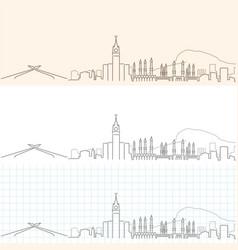 Mecca hand drawn skyline vector