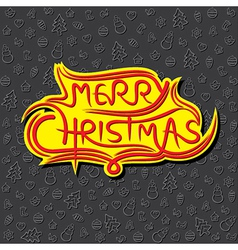 merry Christmas greeting background design vector image