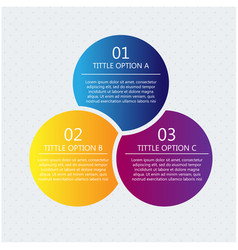 modern business circle origami style template vect vector image