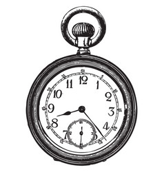 old pocket watch vector image