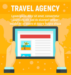 online travel agency concept background flat vector image