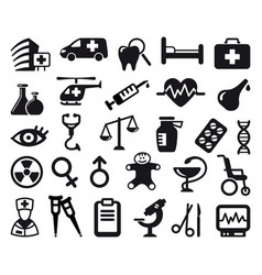 pharma and healthcare icons vector image