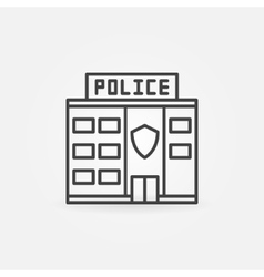 Police station building icon vector image