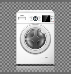 realistic washing machine isolated on transparent vector image