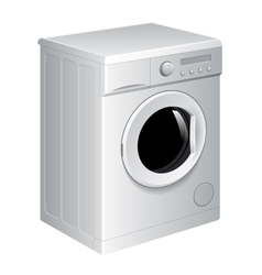 Realistic washing machine vector