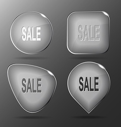 Sale Glass buttons vector