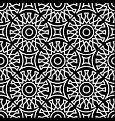 seamless geometric pattern in arabic style black vector image
