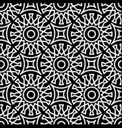 seamless geometric pattern in arabic style black vector image