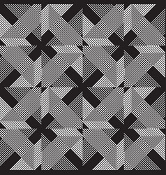 seamless lines pattern in black and gray color vector image