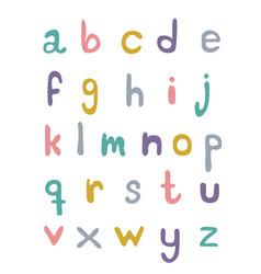 Set hand written alphabeth in pastels on a vector
