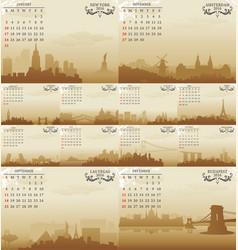 Skyline calendar vector