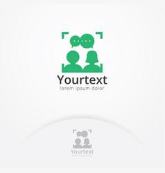 social portrait logo vector image