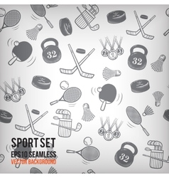 sports seamless background Sports equipment vector image