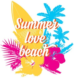 Surf summer icon design label vector image