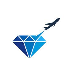 travel diamond logo icon design vector image