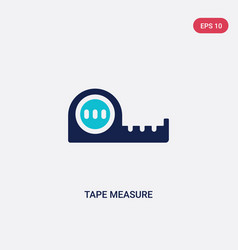 Two color tape measure icon from general concept vector