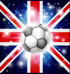 Uk soccer flag vector