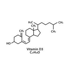 Vitamin d3 cholecalciferol molecular structure vector