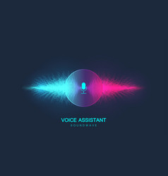 voice assistant concept sound wave voice vector image