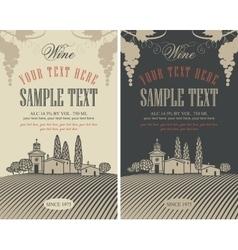 wine labels set vector image