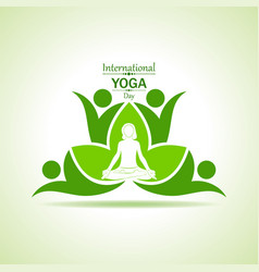 woman doing yogasan for international yoga day vector image