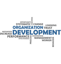 Word cloud - organization development vector
