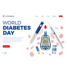 world diabetes day concept vector image