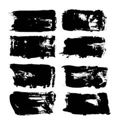 abstract big thick black long textured brush vector image vector image