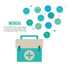 medical health care emergency kit vector image