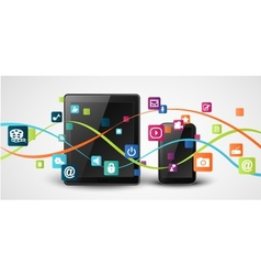 tablet computer and mobile phones vector image