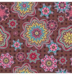 Arabesque floral pattern background vector image
