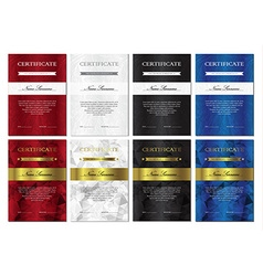 Certificate and diploma templates set vector image vector image