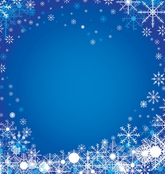 Merry Christmas and Happy New Year in winter The vector image vector image