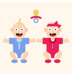 Newborn Boy Girl vector image