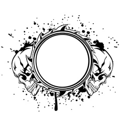 skulls frame vector image vector image