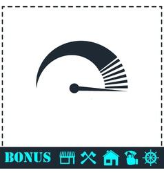 Speed icon flat vector image
